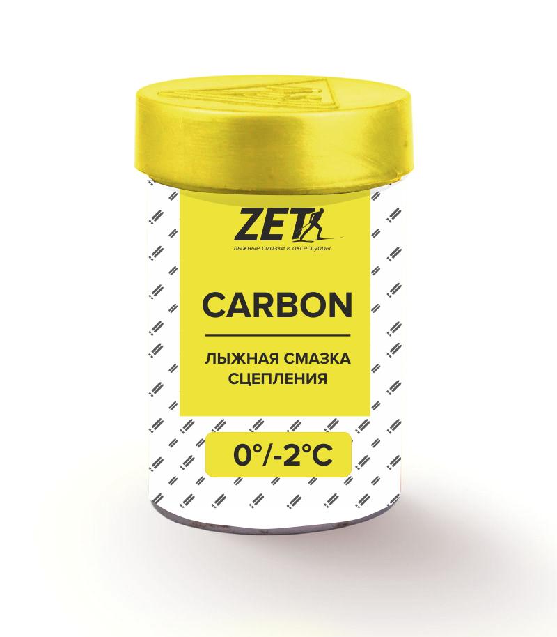 Лыжная смазка сцепления carbon (без фтора)  СARBON (0/-2°C) 30 гр.
