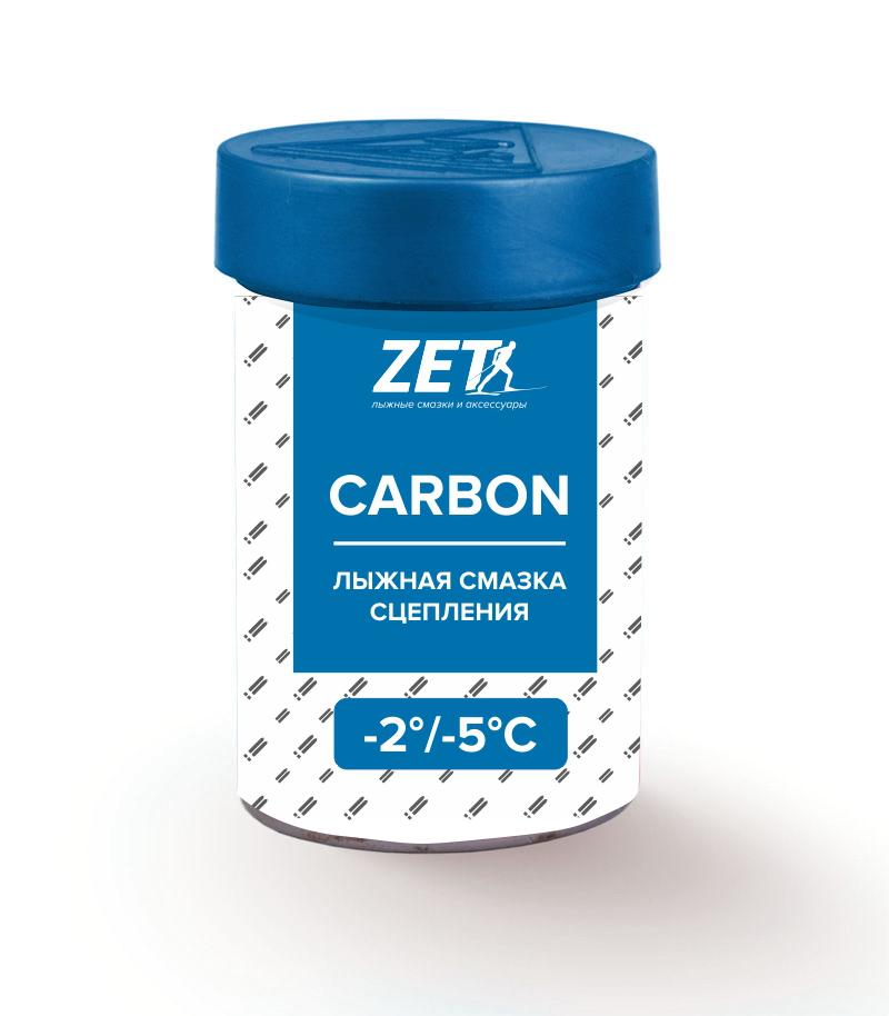 Лыжная смазка сцепления carbon (без фтора)  СARBON (-2/-5°C) 30 гр.